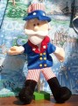 TBOT001  Uncle Sam Hand Puppet