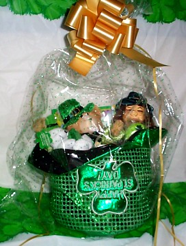 St.  Patrick's Day Leprechaun Marionette Basket Wrapped