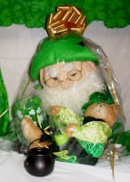 Saint Patricks Day Deluxe Leprechaun Gift Basket